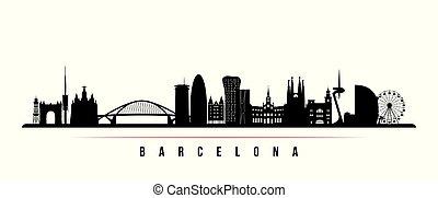 都市 スカイライン, 横, バルセロナ, banner.