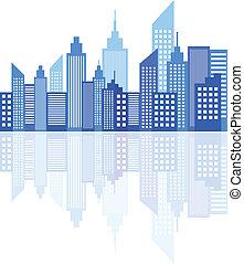 都市 スカイライン, 現代, 超高層ビル