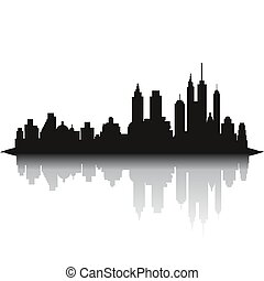 都市 スカイライン, 白い背景