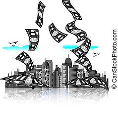 都市 スカイライン, bills., お金