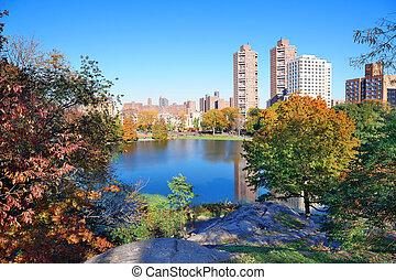 都市, セントラル・パーク, 秋, ヨーク, 新しい