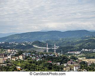 都市, タワー, 観光, sochi