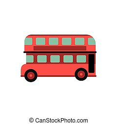 都市, ダブル, ロンドン, レトロ, バス, 赤