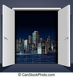 都市, ドア