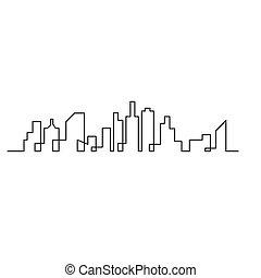 都市, ベクトル, スカイラインのシルエット