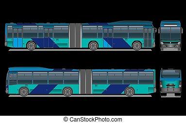都市, ベクトル, バス