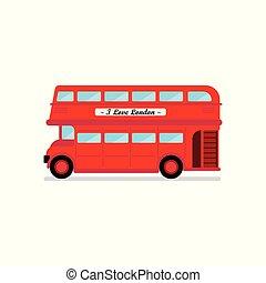 都市, ベクトル, ロンドン, イラスト, バス