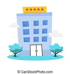 都市, ホテル, 星, 建築, 現代, 5, 場所, icon.