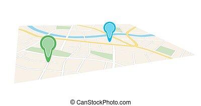 都市, ポインター, 地図