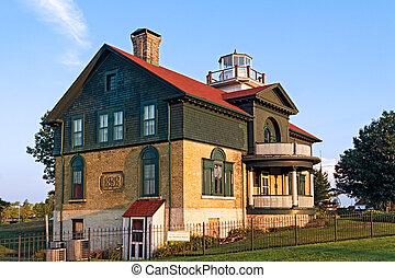 都市, ミシガン州, 古い, 灯台