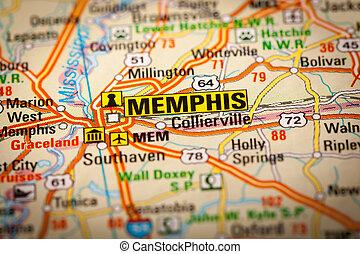 都市, メンフィス, 道路図