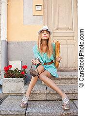 都市, モデル, ファッション