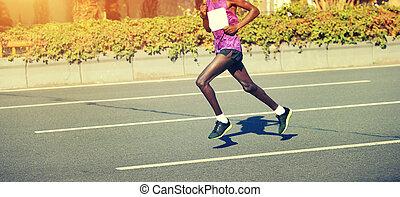 都市, ランナー, 動くこと, 道, マレ, マラソン