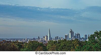 都市, ロンドン, 超高層ビル, パノラマ
