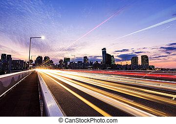 都市, 交通, ソウル, 夜
