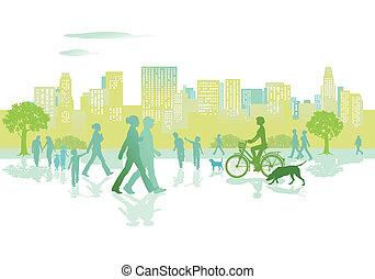 都市 公園, 人々