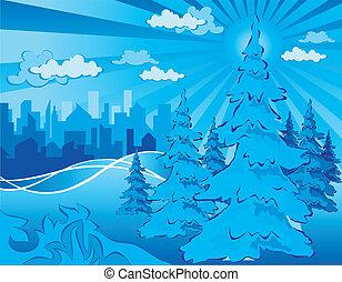 都市 公園, 冬