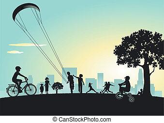 都市 公園, 遊び