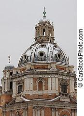 都市, 冬季, ローマ, 光景