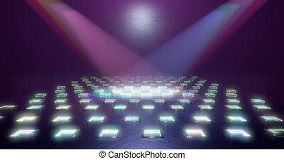 都市, 劇場, illustration., レンダリング, ライト, 現場, ホール, バックグラウンド。, 展覧会, searchlights., ∥あるいは∥, 3d