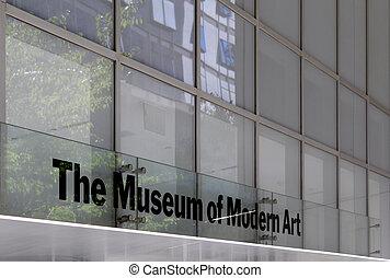 都市, 博物館, 現代, ヨーク, 新しい, moma, 芸術