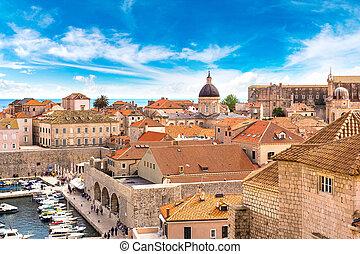 都市, 古い, croatia, dubrovnik
