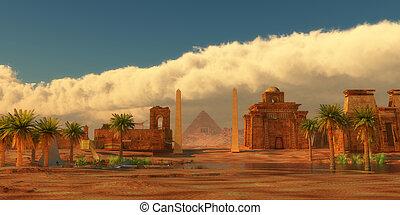 都市, 古代, エジプト人