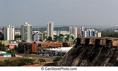 都市, 城, cartagena, 光景