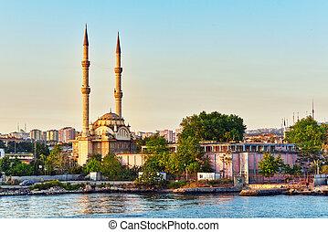 都市, 大きい, -, istambul, ほとんど, アジア, 都市の景観, turkey., 光景
