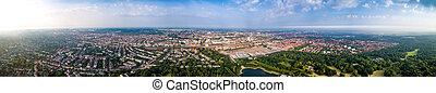 都市, 少佐, 航空写真, 北, ハブ, 自治体, bremen, 地域, 文化, 無人機, 経済, photography.., fpv, germany.