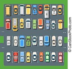 都市, 平面図, 駐車