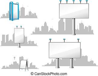 都市, 広告板, スカイライン