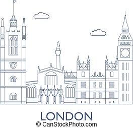 都市, 建物, ほとんど, ロンドン, 有名