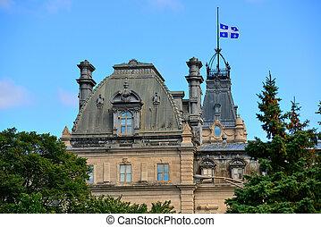 都市, 建物, 古い, ケベック