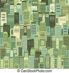 都市, 建物, pattern.