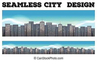 都市, 建物, seamless