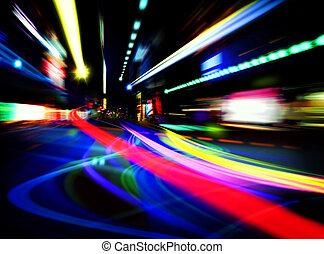 都市, 抽象的, ライト