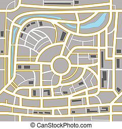 都市, 抽象的, 背景, 地図