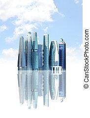 都市, 未来派, 背景