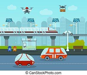 都市, 未来, 構成