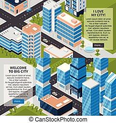 都市, 水平なバナー