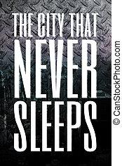 都市, ∥決して∥, 睡眠
