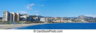 都市, 浜, -, malaga, スペイン
