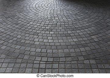 都市, 石の床, 舗装, 通り, ブロック