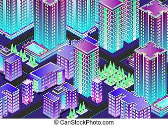 都市, 等大, 夜