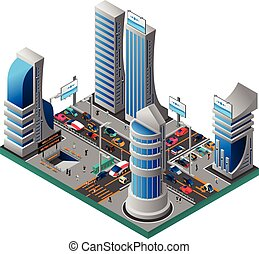 都市, 等大, 未来, テンプレート