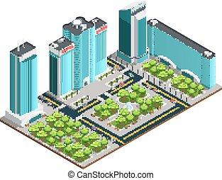 都市, 等大, 現代, 構成