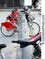 都市, 自転車, 古い, 賃貸料