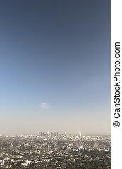 都市, 航空写真, アンジェルという名前の人たち, los, ビュー。, california.