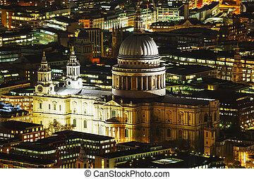 都市, 航空写真, 概観, pauls, st., ロンドン, 大聖堂